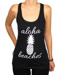 aloha beaches slim fit tank top