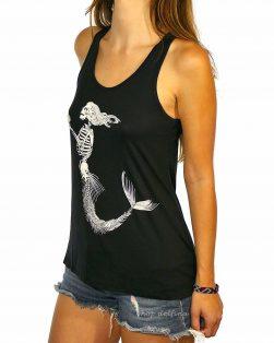 mermaid skeleton tank top